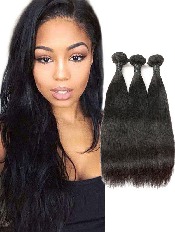 Online 3Pcs Real Human Hair Straight Hair Weaves