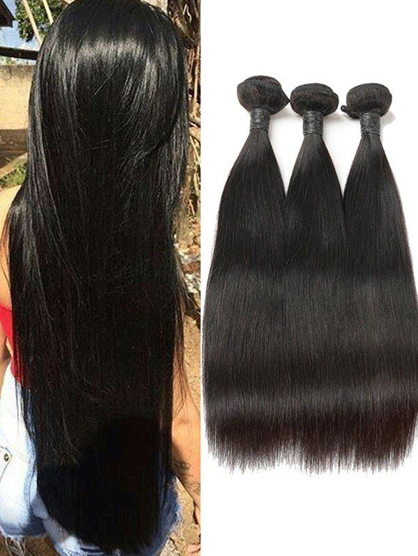 Discount 3Pcs Peruvian Virgin Real Human Hair Straight Hair Weaves