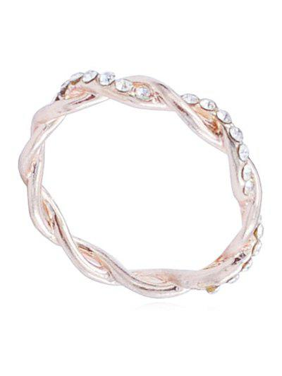 Unique Rhinestone Infinity Loop Alloy Ring