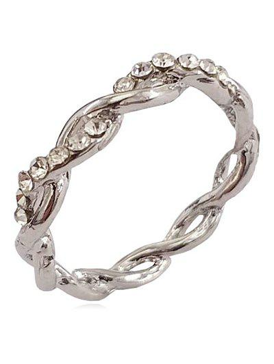 Best Rhinestone Infinity Loop Alloy Ring