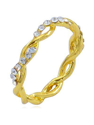 Fancy Rhinestone Infinity Loop Alloy Ring