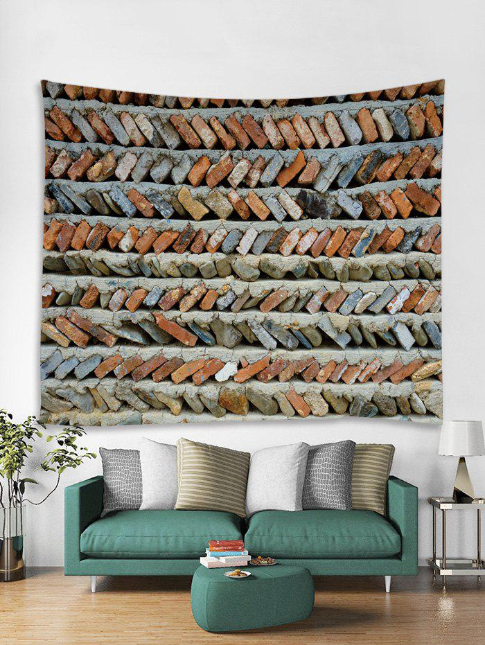 Store Brick Stone Wall Print Tapestry Wall Hanging Art Decoration