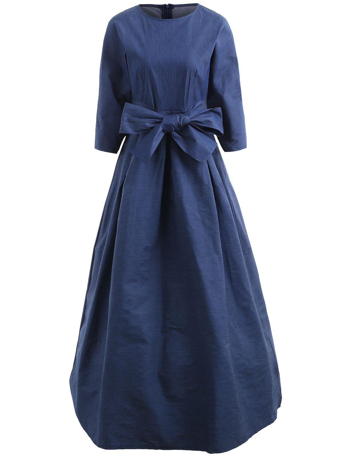 b9212946260 Latest Denim Maxi Dress with Belt