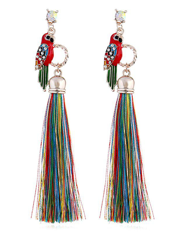 Outfits Parrot Design Rhinestone Inlaid Earrings