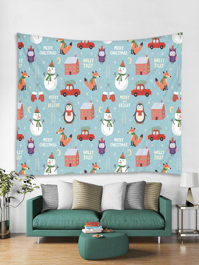 Outfits Christmas Snowman Cartoon Print Tapestry Art Decoration