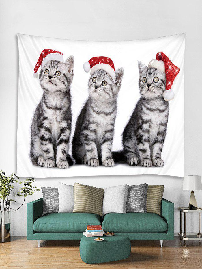 Sale Christmas Cat Printed Tapestry Art Decoration