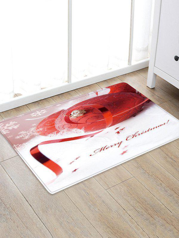 Outfits Merry Christmas Ball Pattern Anti-skid Water Absorption Area Rug