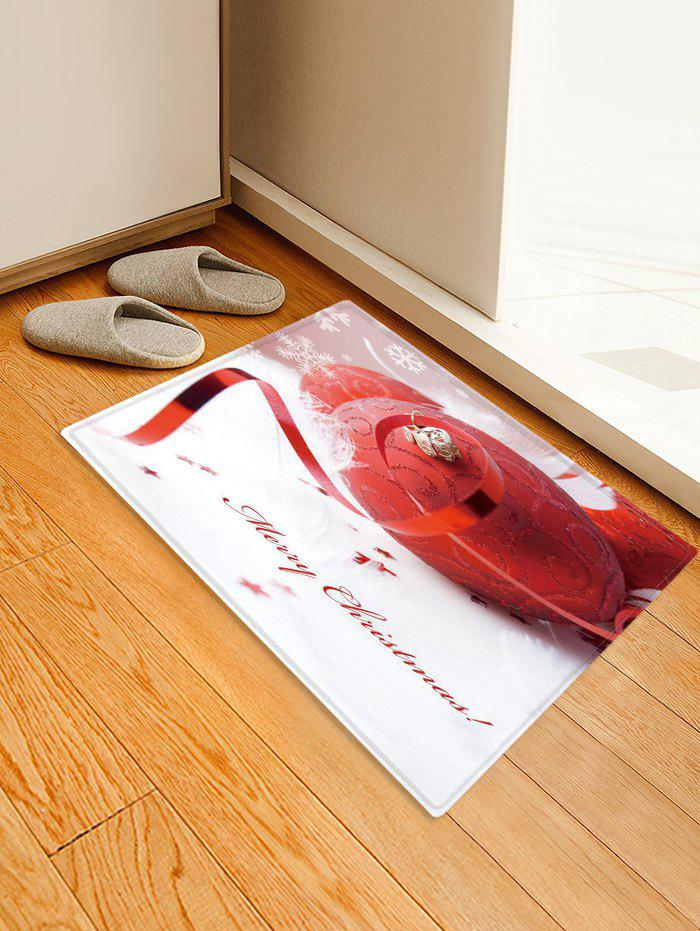 Discount Merry Christmas Ball Pattern Anti-skid Water Absorption Area Rug