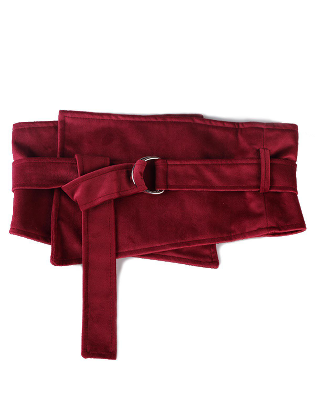 Buy Vintage Metal Buckle Solid Color High Waist Belt
