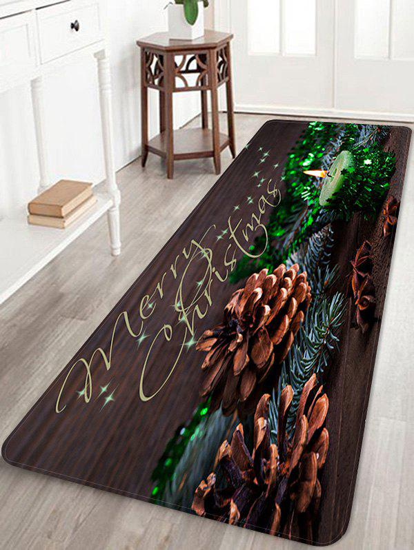 Latest Christmas Candle Pattern Anti-skid Water Absorption Area Rug