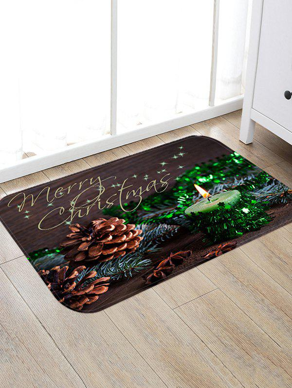 Sale Christmas Candle Pattern Anti-skid Water Absorption Area Rug