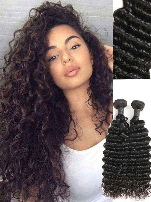 Fancy 2Pcs Brazilian Real Human Hair Deep Wave Hair Weaves