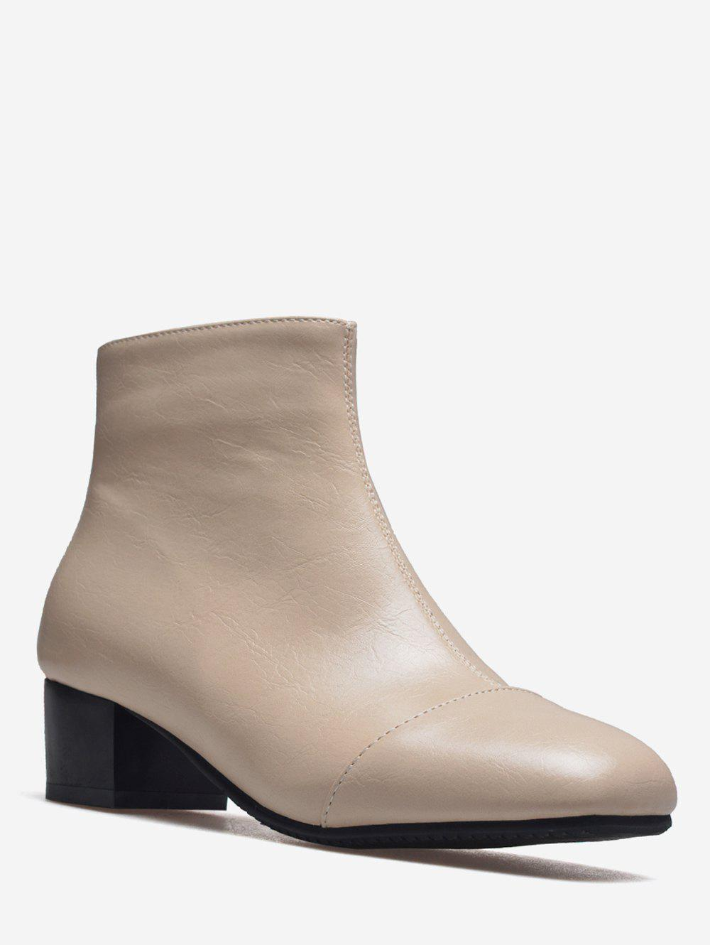 Sale Plus Size Square Toe Ankle Boots
