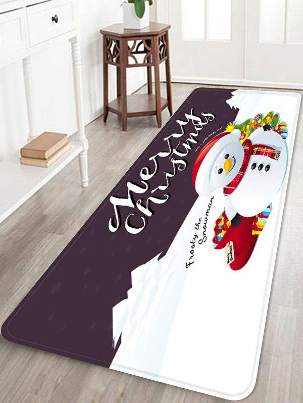 Affordable Merry Christmas Snowman Printed Non-slip Area Rug