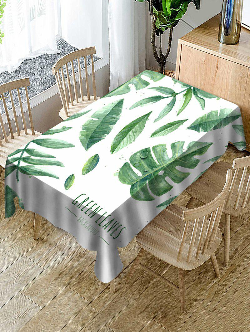 Affordable Tropical Leaves Print Fabric Waterproof Tablecloth