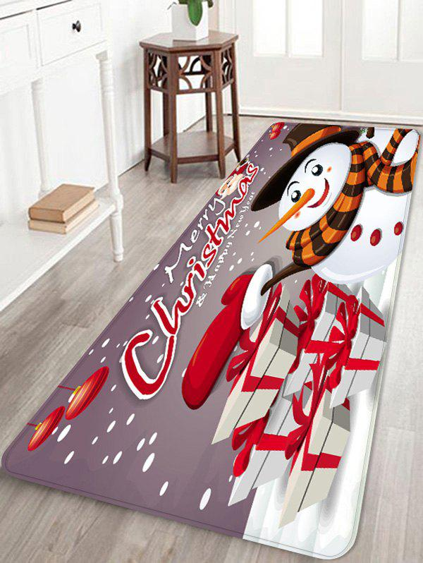 Unique Christmas Snowman Gift Printed Non-slip Area Rug