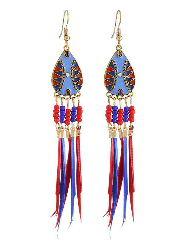 Fancy Bohemian Beaded Fringed Hook Earrings