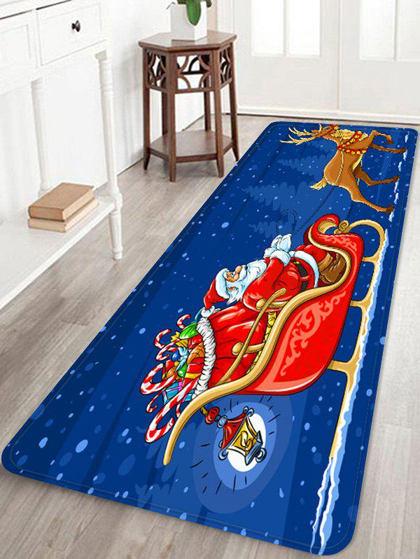 Chic Father Christmas Deer Gift Printed Non-slip Area Rug