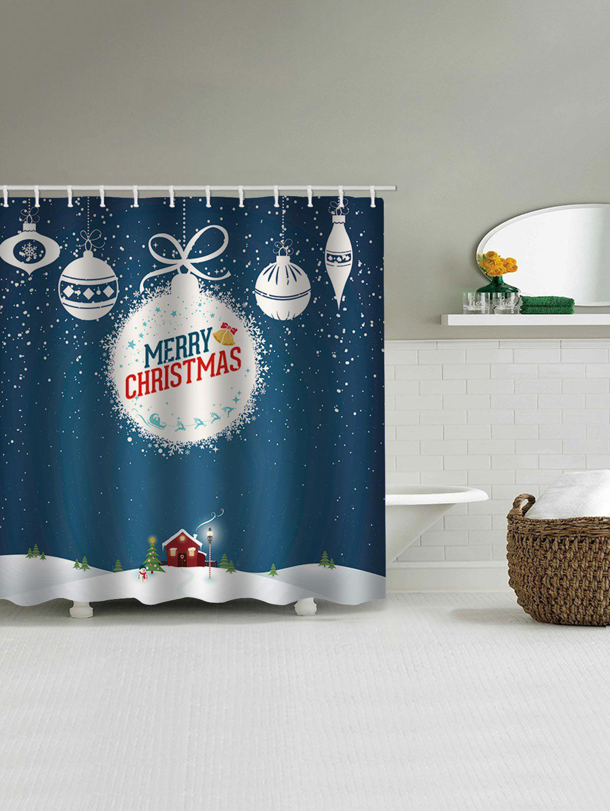 Best Christmas Letter Waterproof Bath Curtain