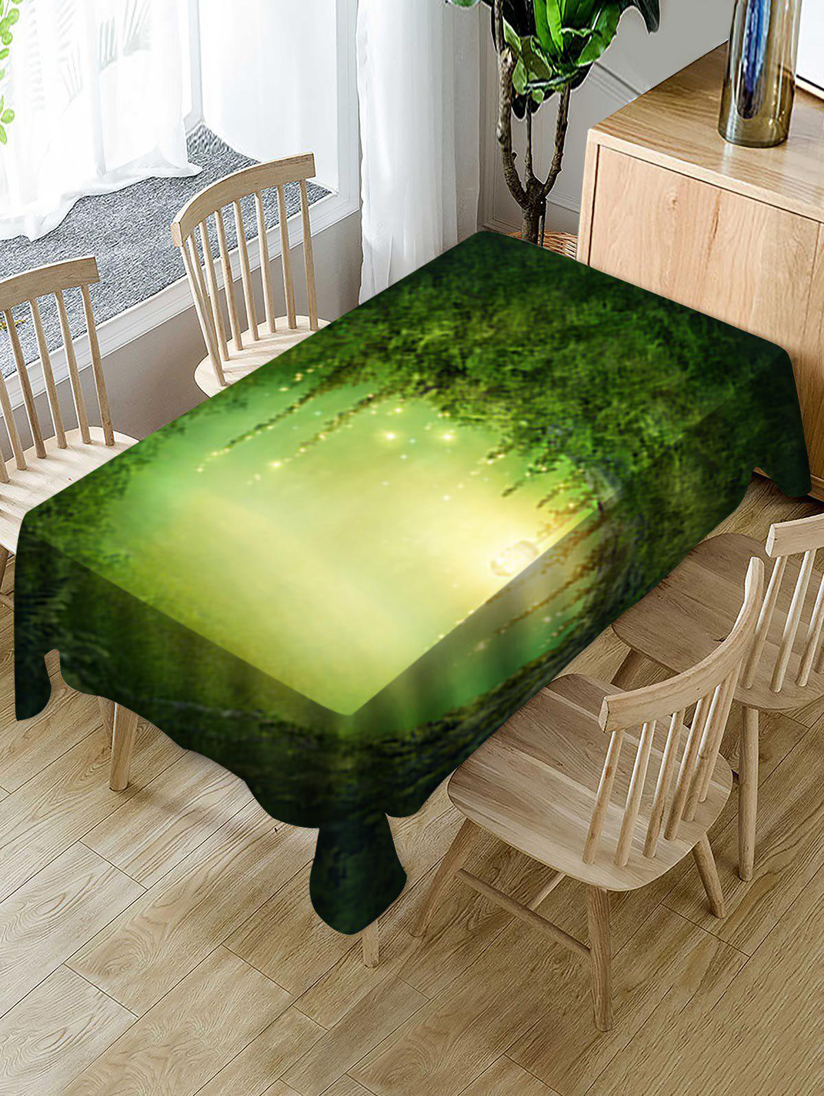 Hot Forest Hole Print Fabric Waterproof Tablecloth