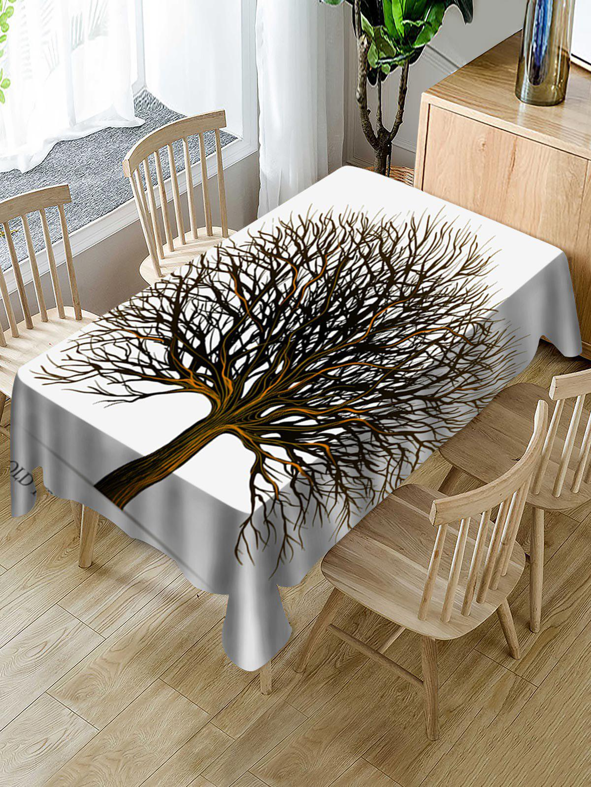 Best Tree Print Fabric Waterproof Tablecloth
