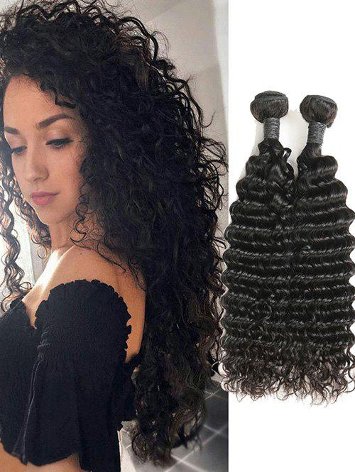 Outfit 2Pcs Peruvian Human Hair Deep Wave Hair Weaves