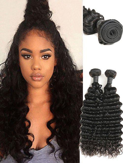 Hot 2Pcs Indian Real Human Hair Deep Waves Hair Weaves
