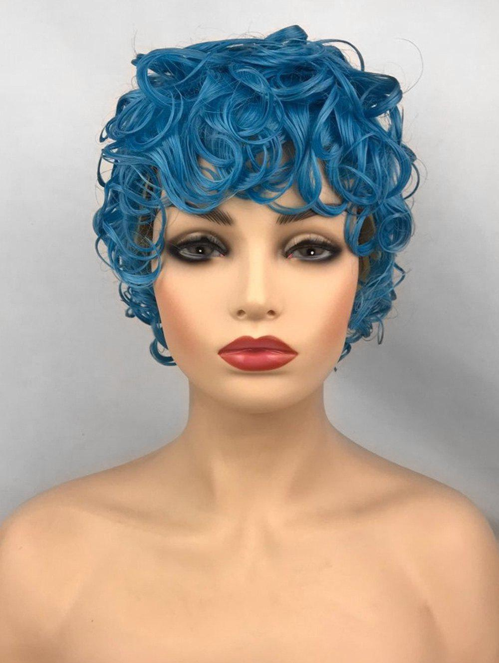 Store Short Side Bang Curly Anime Cosplay Synthetic Wig