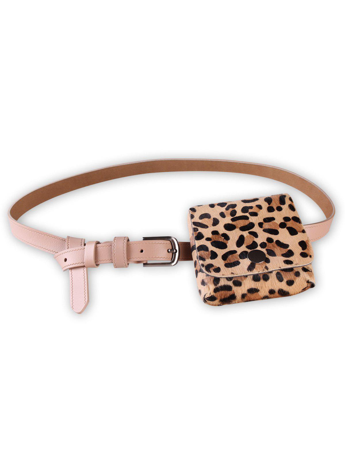 Trendy Leopard Fanny Pack Artificial Leather Belt Bag