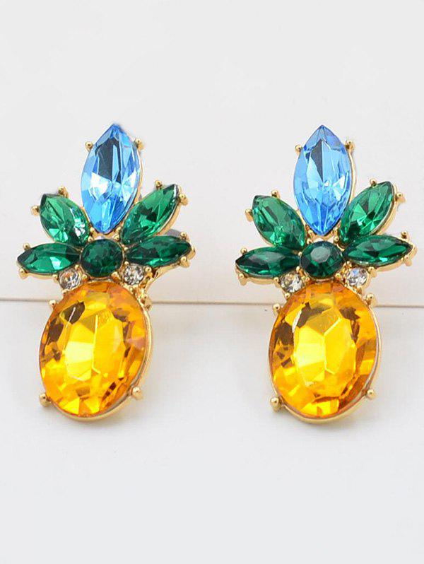 Outfits Artificial Crystal Pineapple Stud Earrings