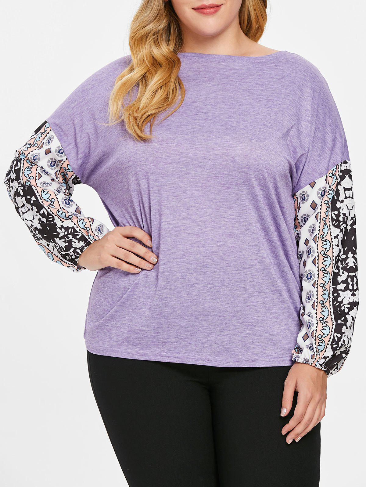 Fashion Plus Size Long Sleeves Graphic Tee
