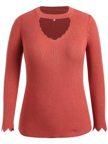 Mock Neck Plus Size Cut Out Sweater