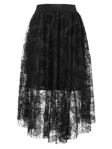 cd27bf44be 63% OFF] High Waist Front Slit Lace Up Asymmetrical Skirt | Rosegal