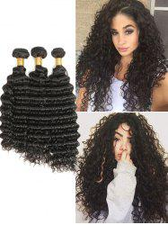 Malaysian Virgin Human Hair Deep Wave Hair Weaves -