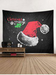 Merry Christmas Hat Printed Tapestry -
