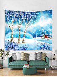 Christmas Snow World Print Tapestry Art Decoration -