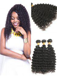 Indian Virgin Real Human Hair Deep Wave Hair Weaves -