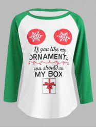 Christmas Graphic Print Baseball Tee -