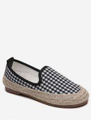 Plaid Espadrilles Slip On Flats -