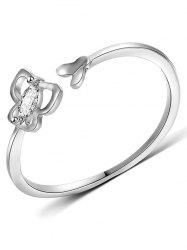 Hollow Butterfly Design Artificial Diamond Ring -