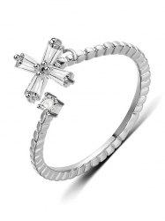 Artificial Diamond Inlaid Decoration Finger Ring -