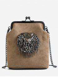 Metal Fringe Hasp Chain Crossbody Bag -