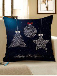 Christmas Props Pattern Decorative Sofa Linen Pillowcase -