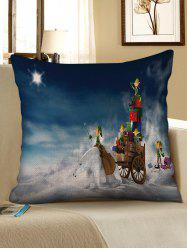 Christmas Bear Gifts Pattern Decorative Sofa Linen Pillowcase -