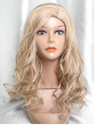 Long Side Parting Capless Colormix Wavy Synthetic Wig -