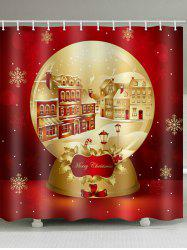 Christmas Crystal Ball with Snow Bathroom Shower Curtain -