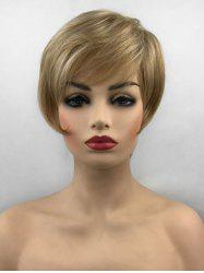 Side Bang Straight Short Capless Synthetic Wig -