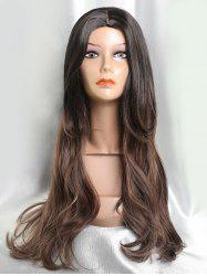 Long Center Parting Ombre Straight Capless Synthetic Hair -