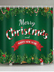 Christmas Letter Embellished Bathroom Shower Curtain -