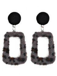 Hollow Out Leopard Pendant Earrings -